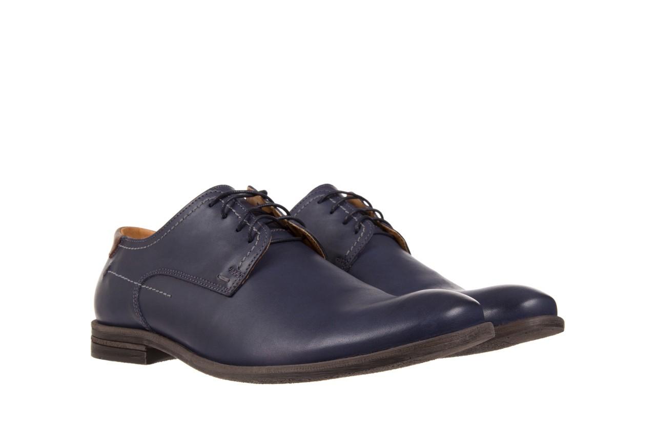 Półbuty bayla-051 216 bufallo niebieski-czekolada, granat, skóra naturalna  - obuwie wizytowe - buty męskie - mężczyzna 7