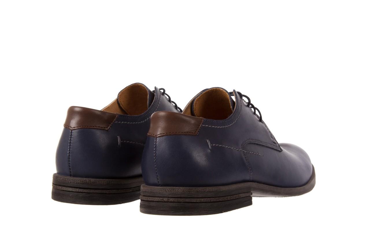 Półbuty bayla-051 216 bufallo niebieski-czekolada, granat, skóra naturalna  - obuwie wizytowe - buty męskie - mężczyzna 9