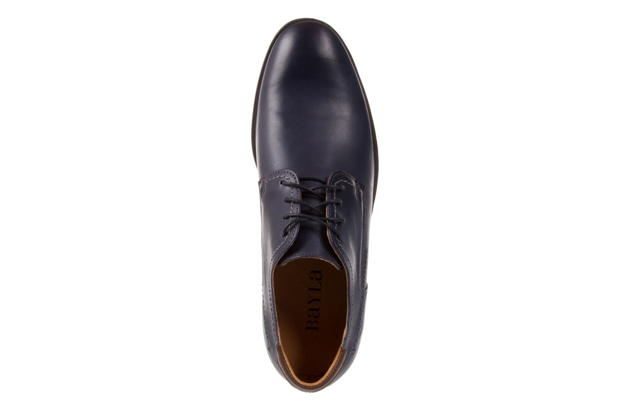 Półbuty bayla-051 216 bufallo niebieski-czekolada, granat, skóra naturalna  - obuwie wizytowe - buty męskie - mężczyzna 10