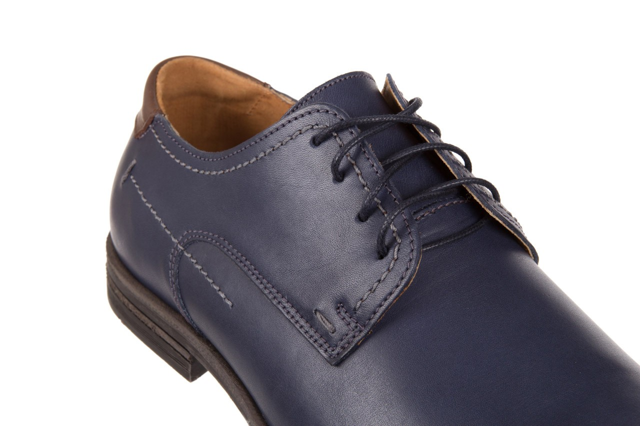 Półbuty bayla-051 216 bufallo niebieski-czekolada, granat, skóra naturalna  - obuwie wizytowe - buty męskie - mężczyzna 11
