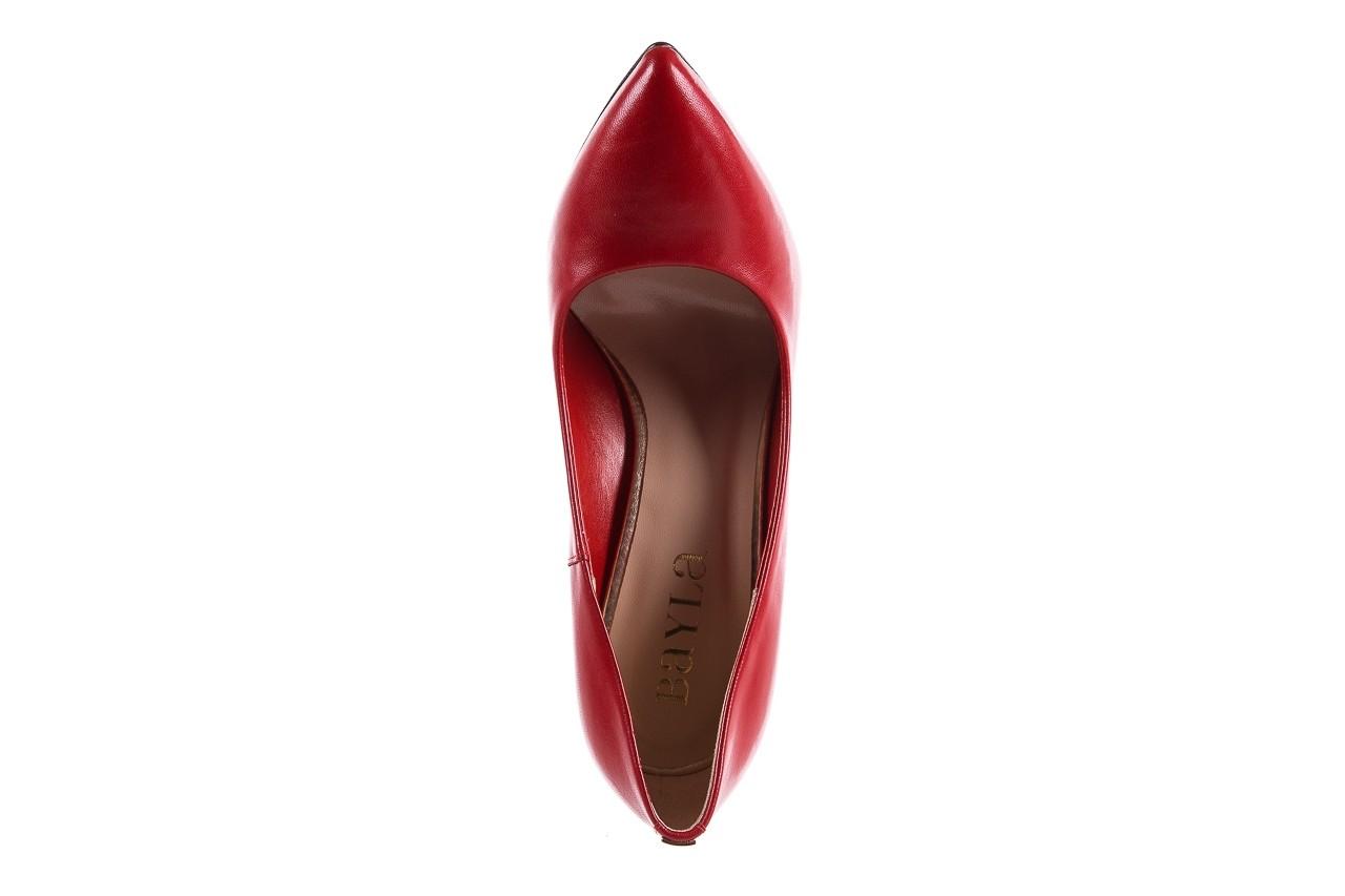 Szpilki bayla-056 1810-1006 czerwony lico 19, skóra naturalna  - czółenka - buty damskie - kobieta 10