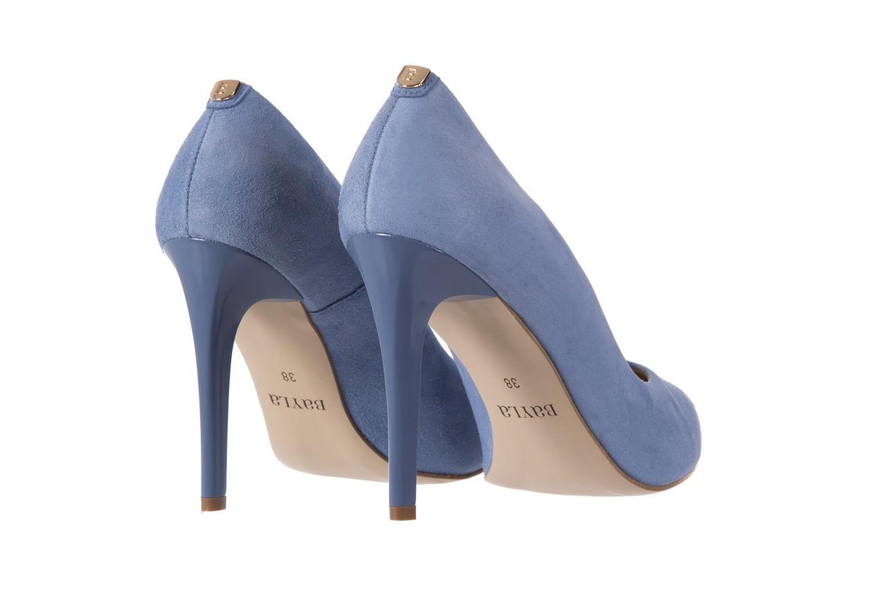 Szpilki bayla-056 1810-605 niebieski, skóra naturalna - 10% - halloween do -30% 10