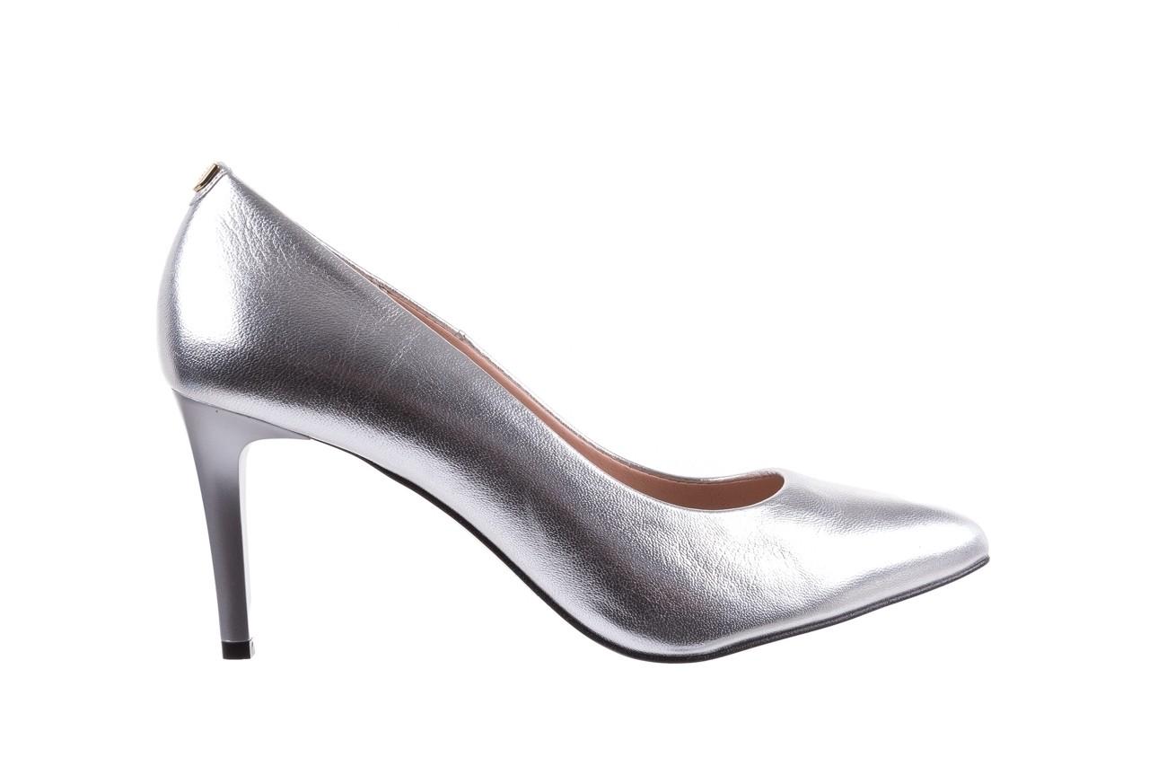 Czółenka bayla-056 1816-1103 srebrny 20, skóra naturalna  - szpilki - buty damskie - kobieta 7