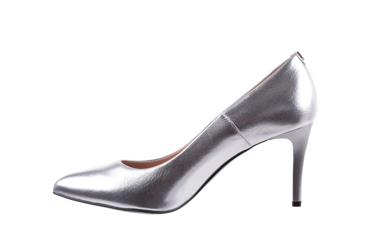 Czółenka bayla-056 1816-1103 srebrny 20, skóra naturalna  - szpilki - buty damskie - kobieta 10