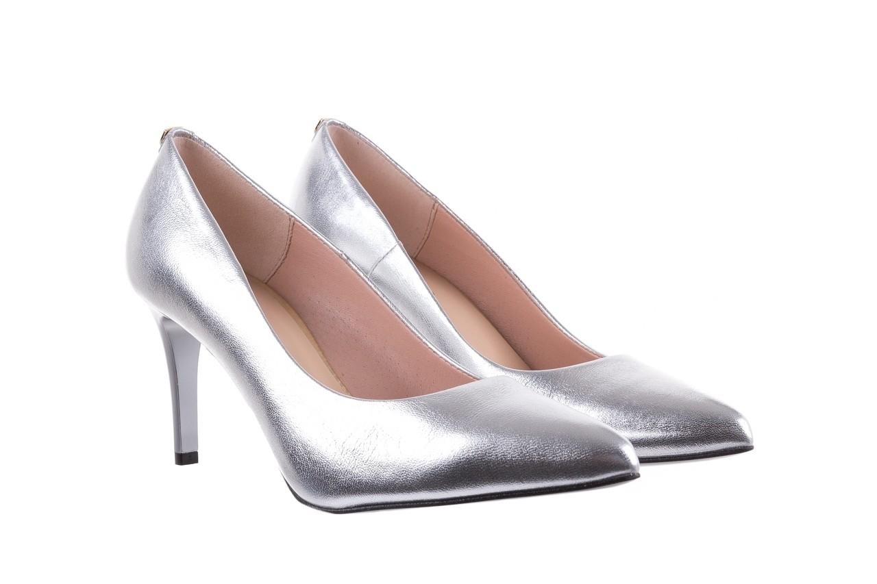 Czółenka bayla-056 1816-1103 srebrny 20, skóra naturalna  - szpilki - buty damskie - kobieta 8