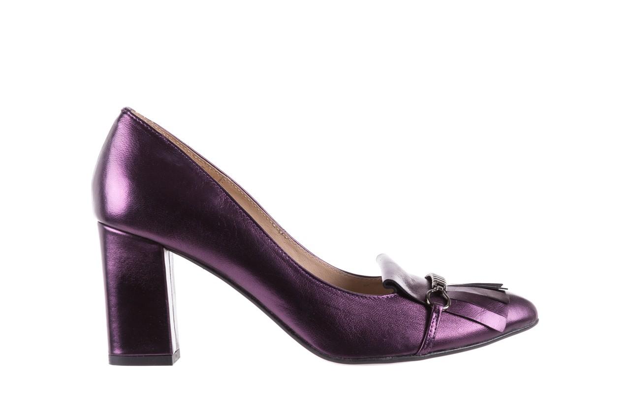 Czółenka bayla-097 7212 fiolet 173008, skóra naturalna  - na słupku - czółenka - buty damskie - kobieta 7