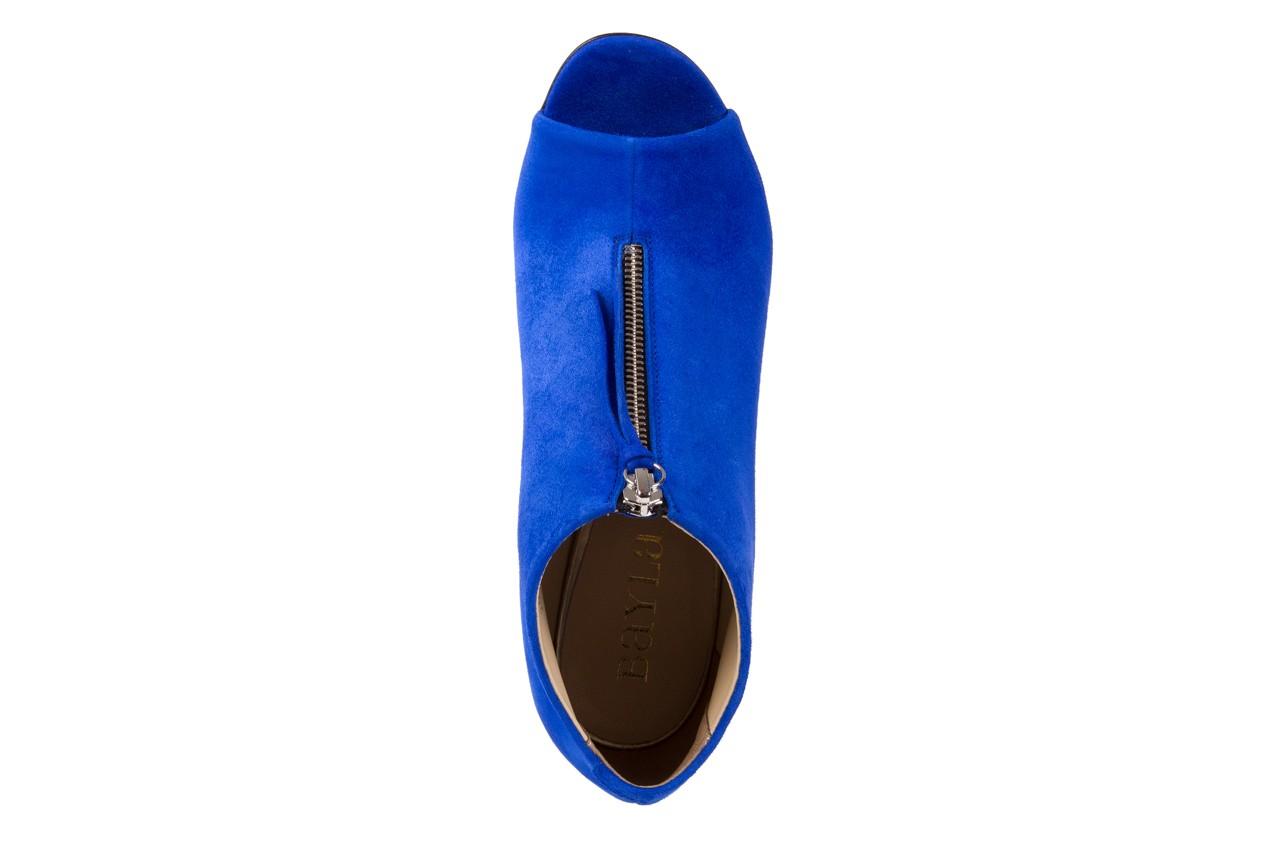Botki bayla-056 2074-601 niebieski, skóra naturalna  - peep toe - szpilki - buty damskie - kobieta 12