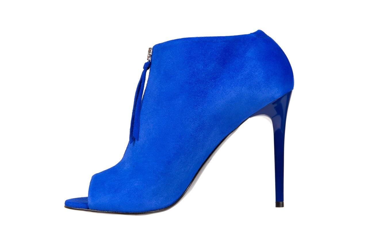 Botki bayla-056 2074-601 niebieski, skóra naturalna  - peep toe - szpilki - buty damskie - kobieta 10