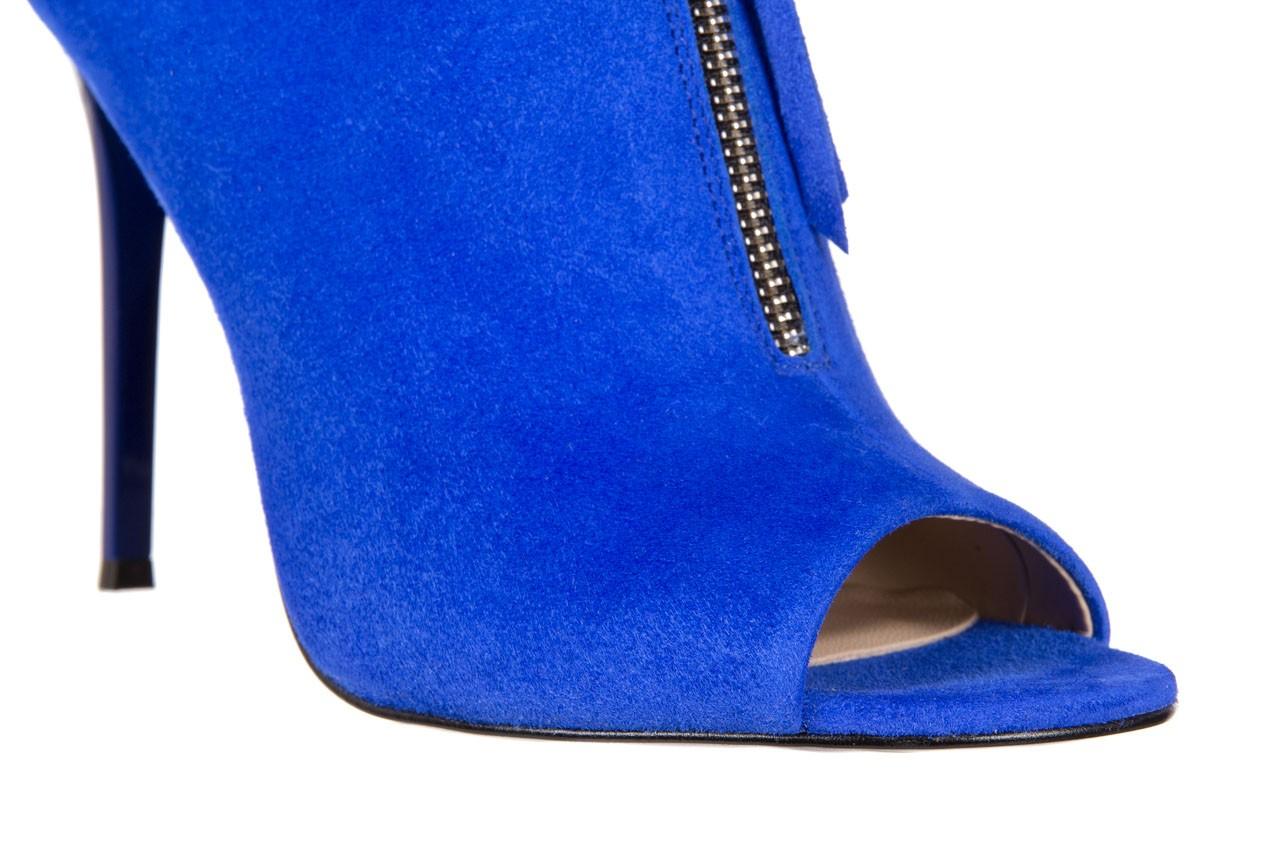 Botki bayla-056 2074-601 niebieski, skóra naturalna  - peep toe - szpilki - buty damskie - kobieta 14