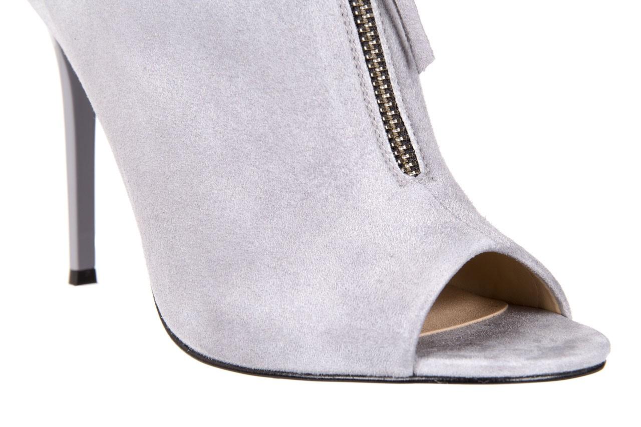 Botki bayla-056 2074-678 szary, skóra naturalna  - na szpilce - botki - buty damskie - kobieta 14