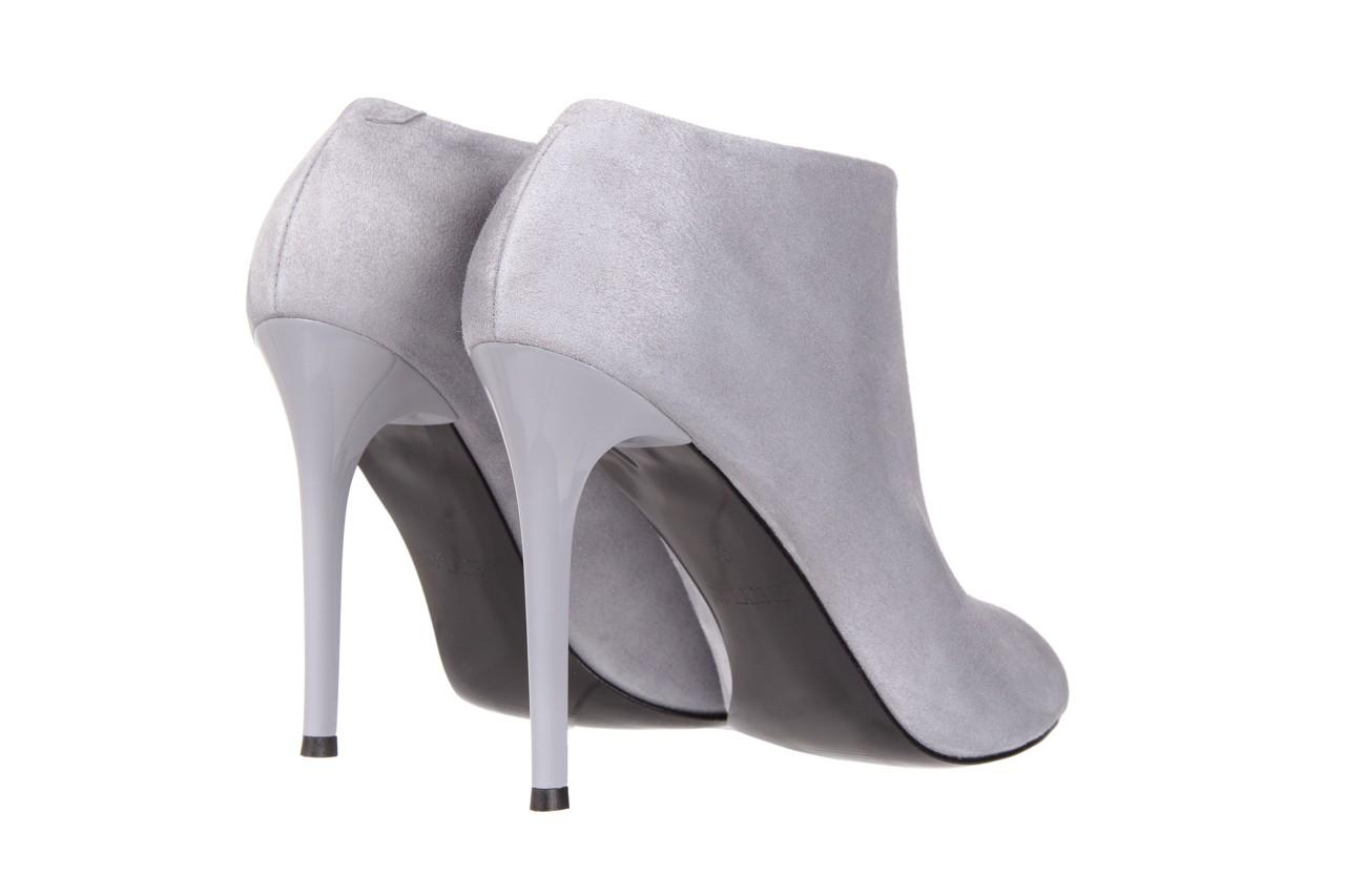 Botki bayla-056 2074-678 szary, skóra naturalna  - na szpilce - botki - buty damskie - kobieta 11