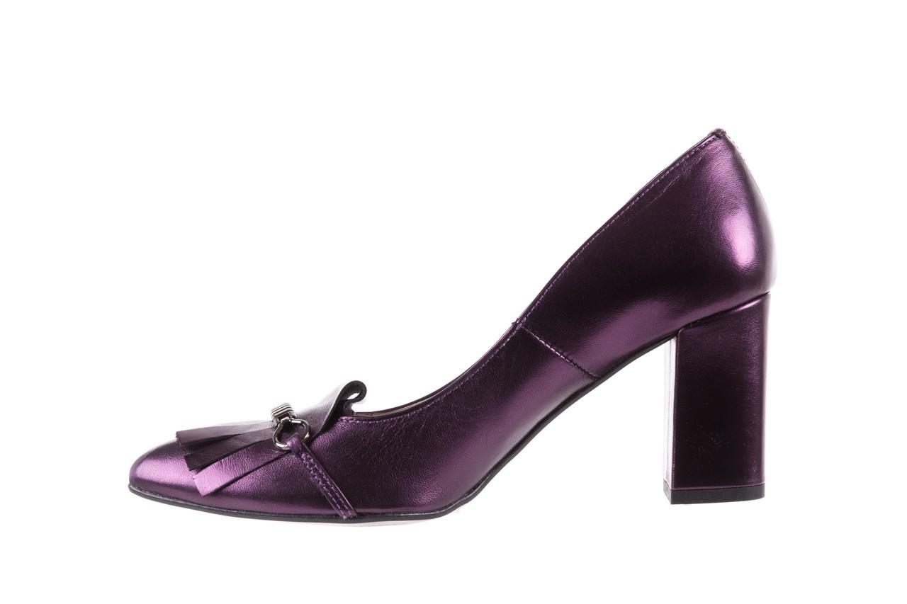 Czółenka bayla-097 7212 fiolet 173008, skóra naturalna  - na słupku - czółenka - buty damskie - kobieta 9