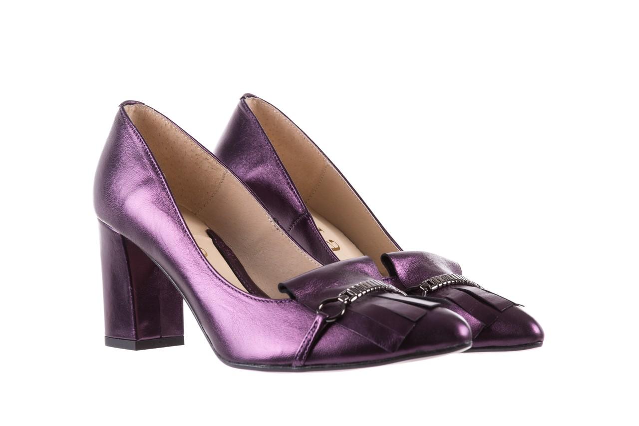 Czółenka bayla-097 7212 fiolet 173008, skóra naturalna  - na słupku - czółenka - buty damskie - kobieta 8