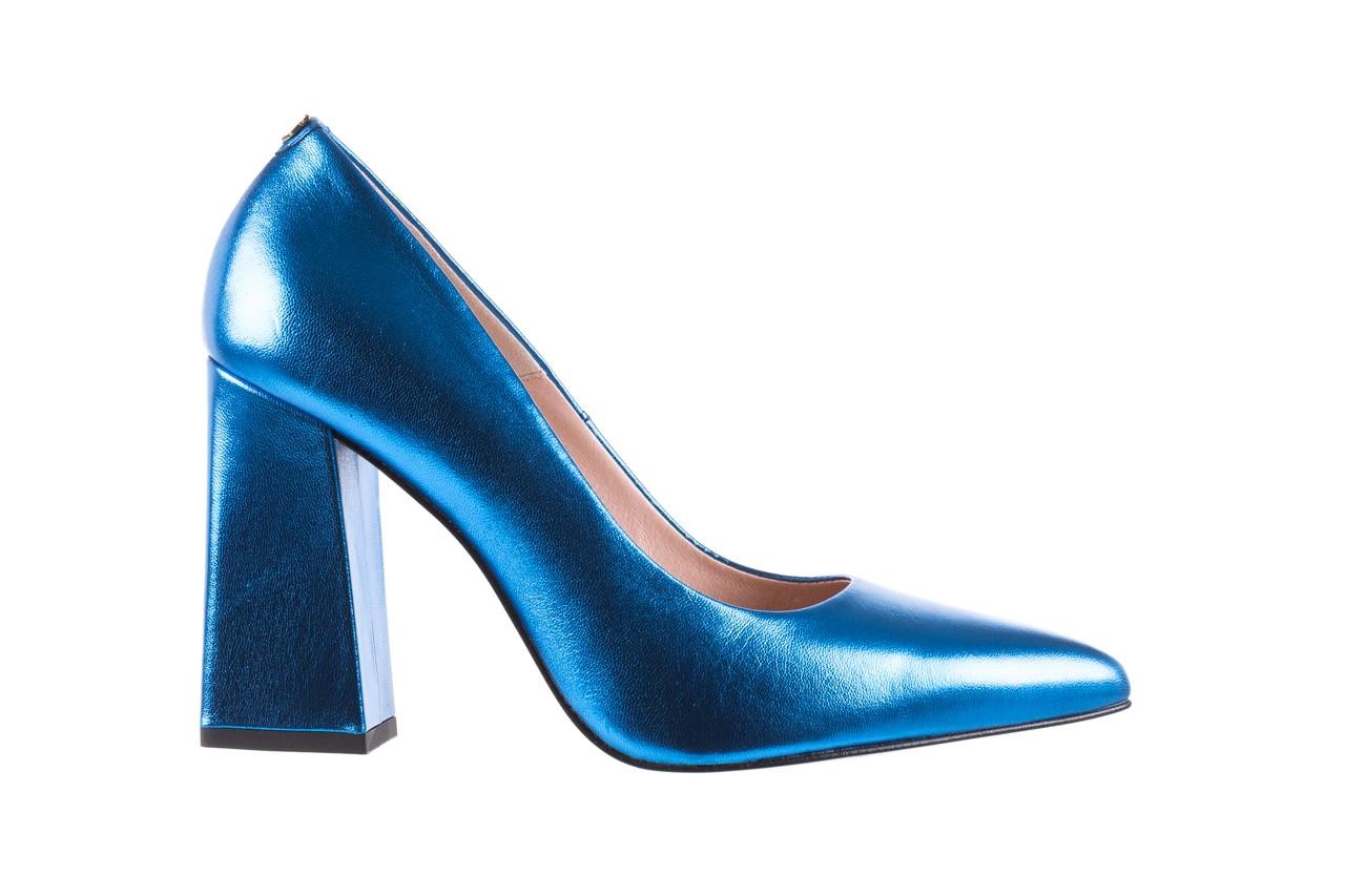 Czółenka bayla-056 5065-1095 niebieski metalik 056345, skóra naturalna  - 10% - halloween do -30% 8