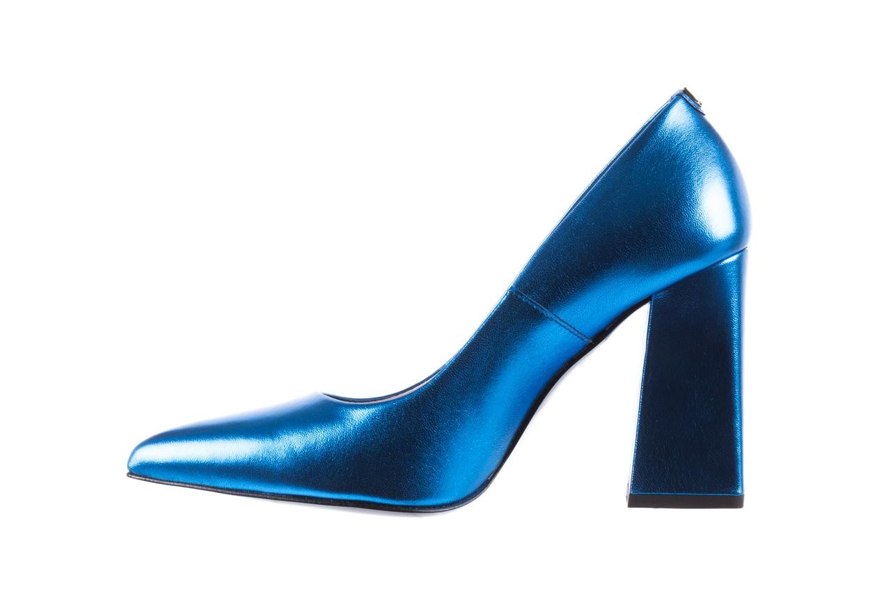 Czółenka bayla-056 5065-1095 niebieski metalik 056345, skóra naturalna  - 10% - halloween do -30% 11