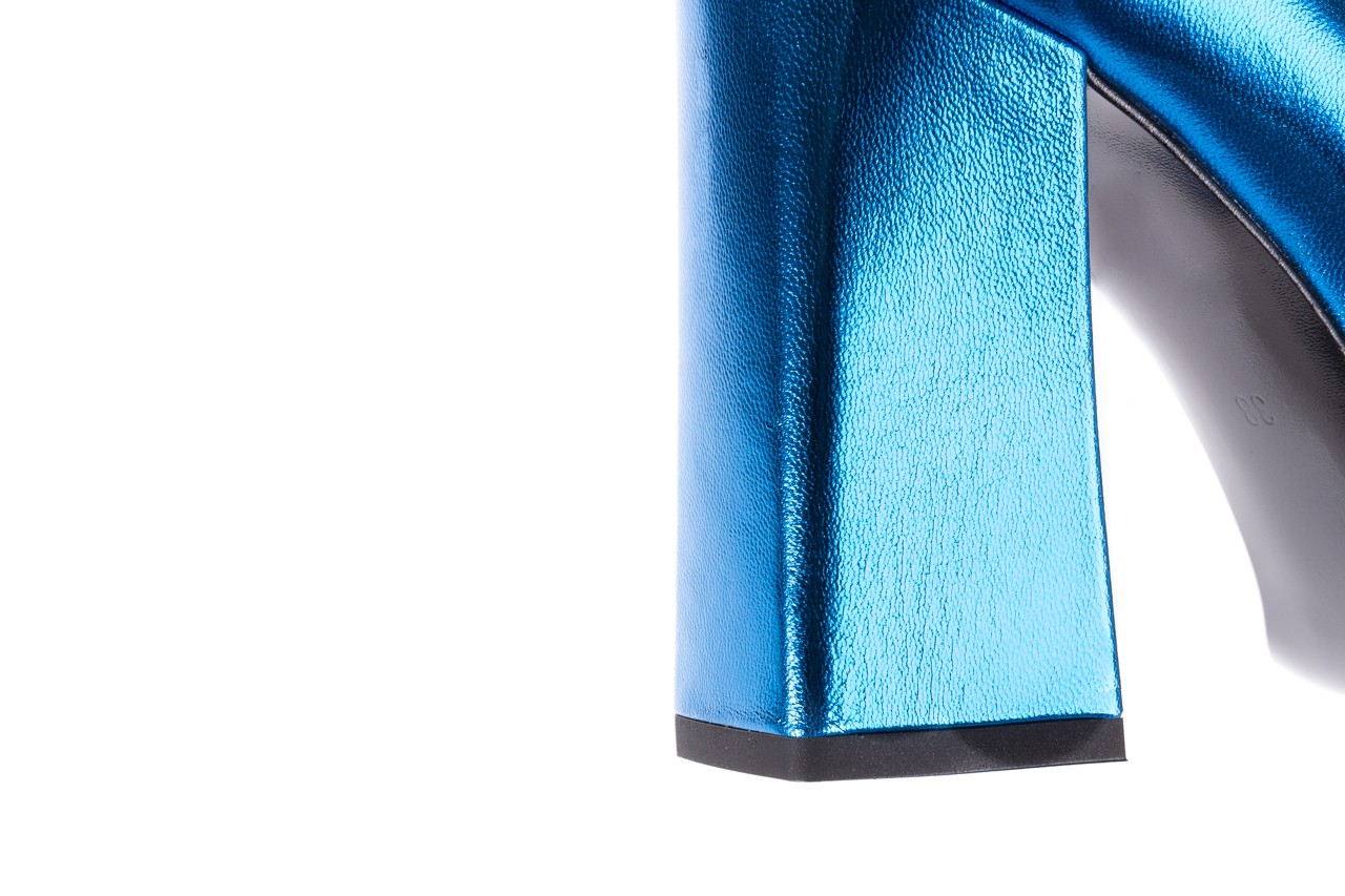Czółenka bayla-056 5065-1095 niebieski metalik 056345, skóra naturalna  - 10% - halloween do -30% 15