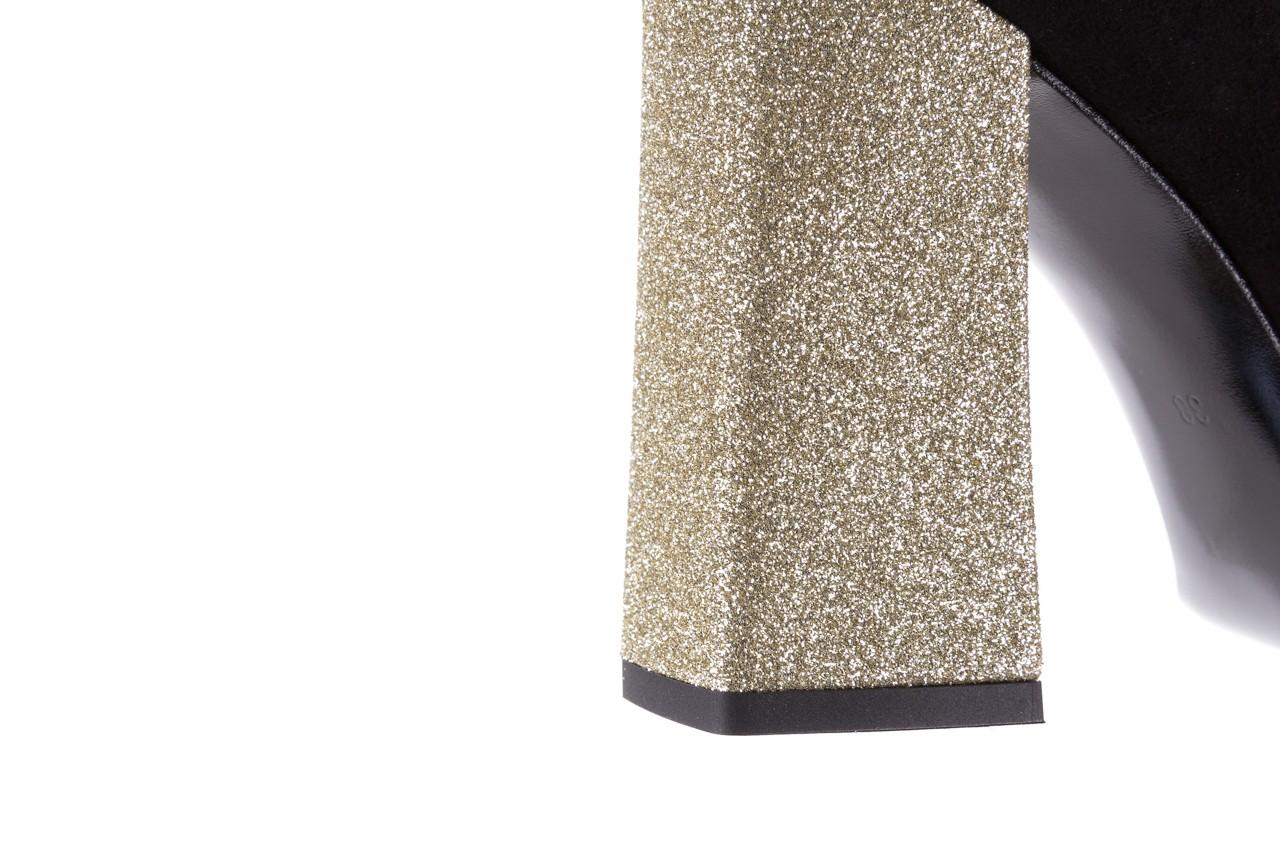 Czółenka bayla-056 5065-21 b czarny złoty 056346, skóra naturalna  - bayla - nasze marki 15