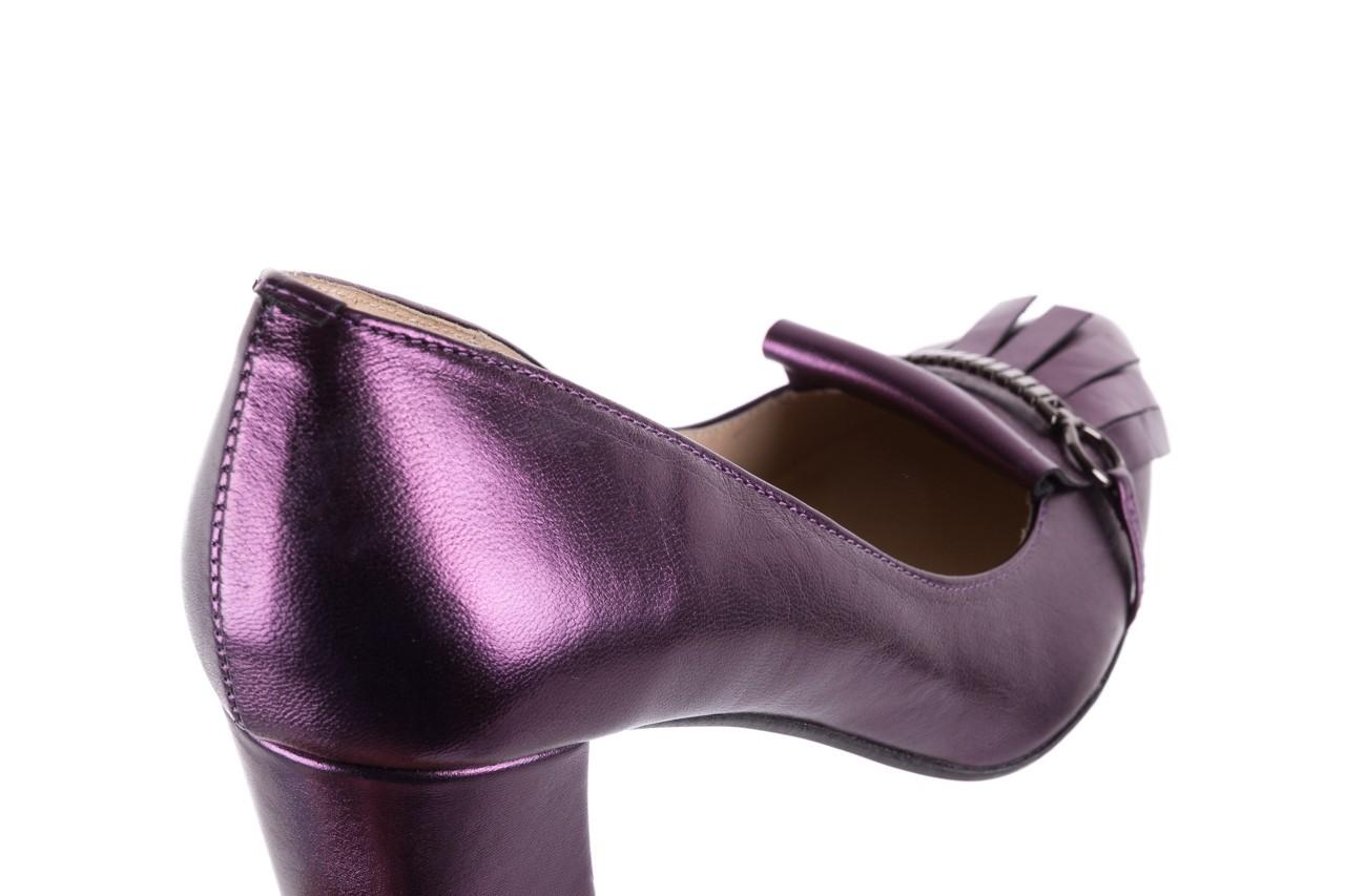 Czółenka bayla-097 7212 fiolet 173008, skóra naturalna  - na słupku - czółenka - buty damskie - kobieta 12