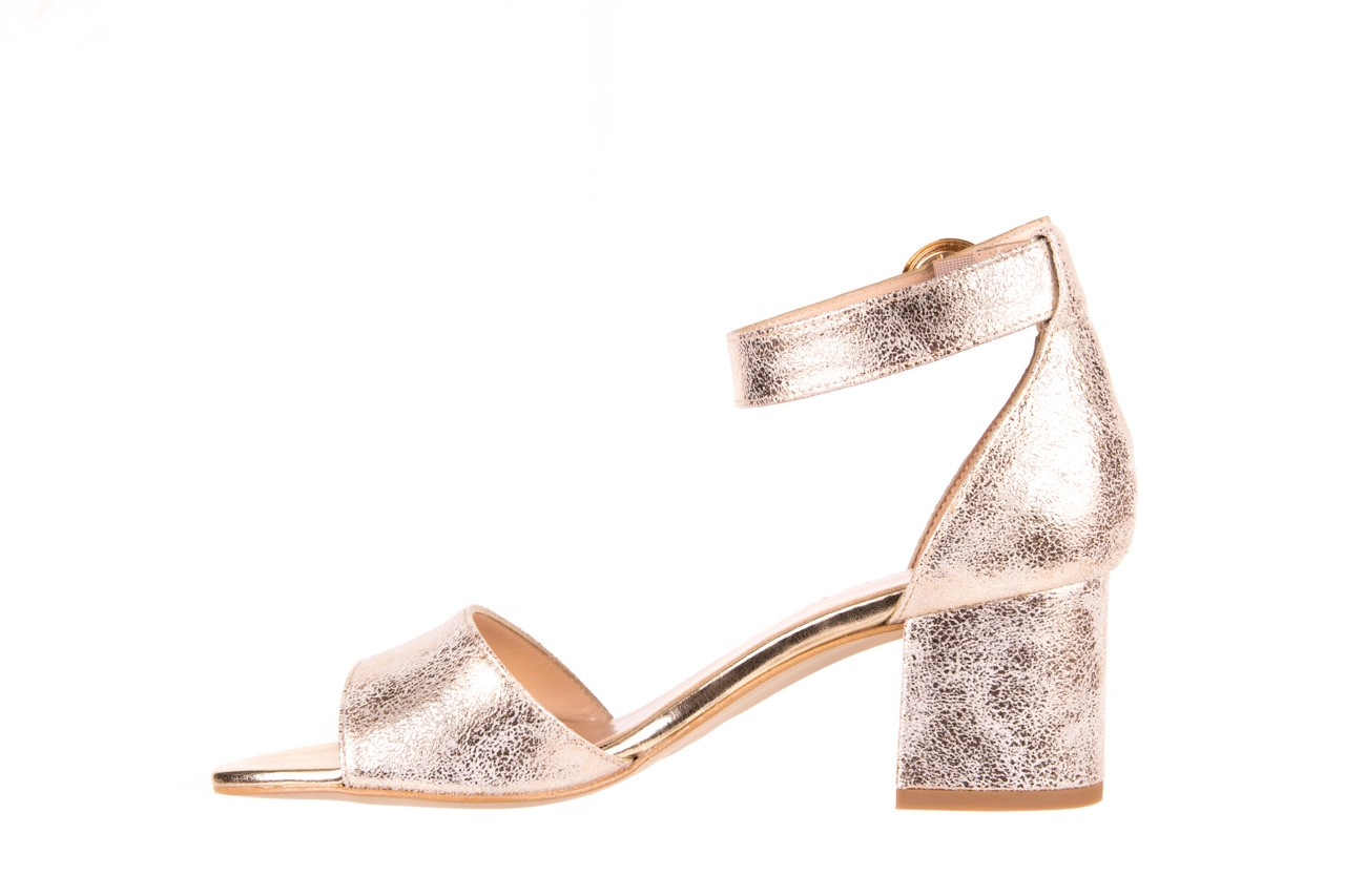 Sandały bayla-056 7049-1067 złote sandały, skóra naturalna  - bayla - nasze marki 8