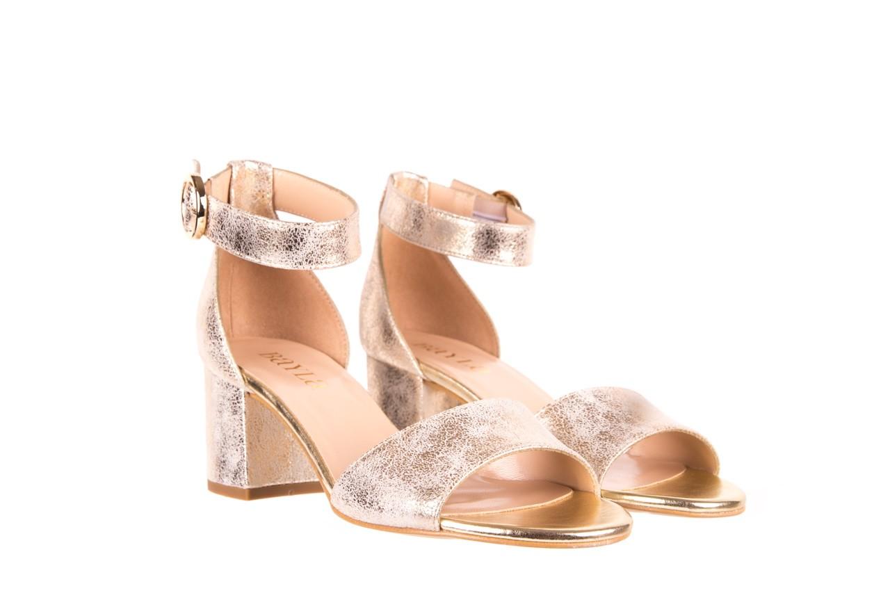 Sandały bayla-056 7049-1067 złote sandały, skóra naturalna  - bayla - nasze marki 7
