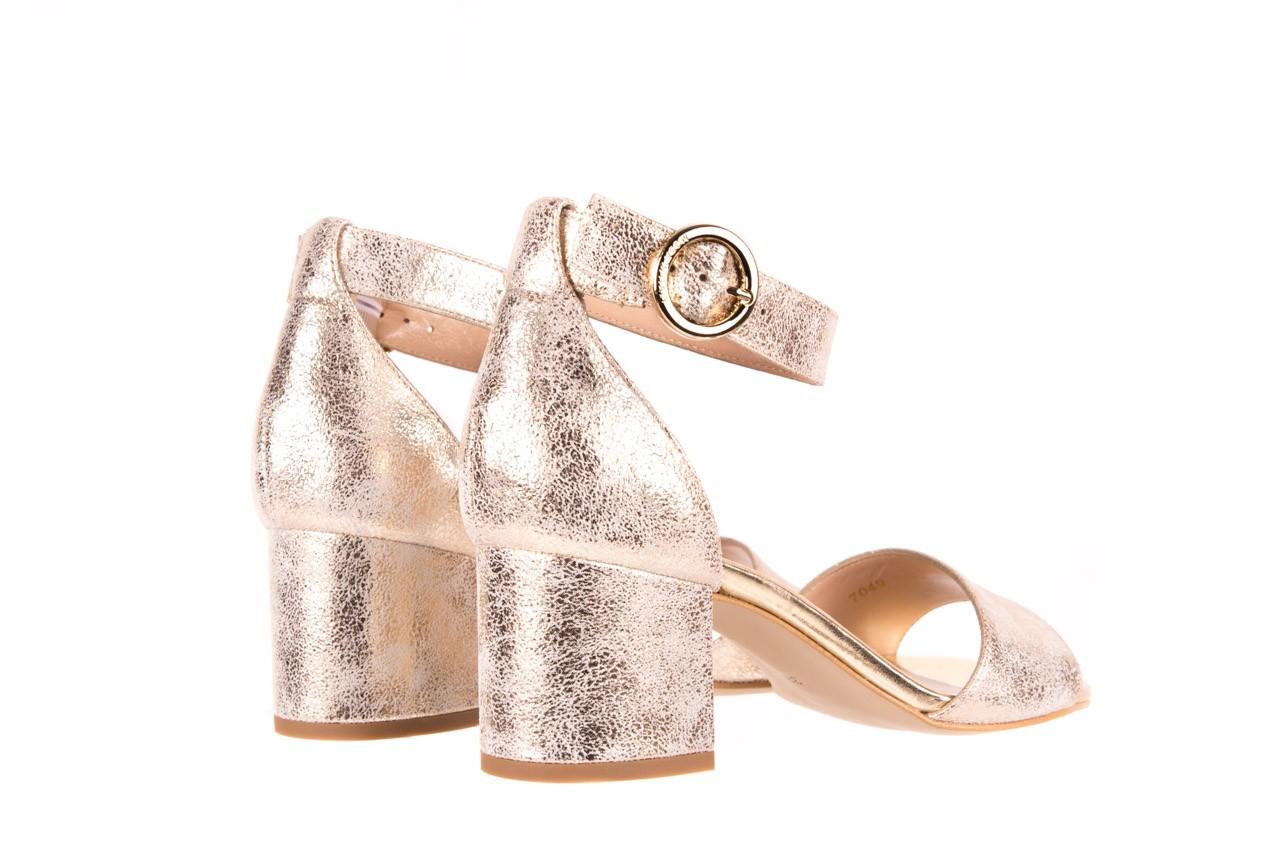 Sandały bayla-056 7049-1067 złote sandały, skóra naturalna  - bayla - nasze marki 9