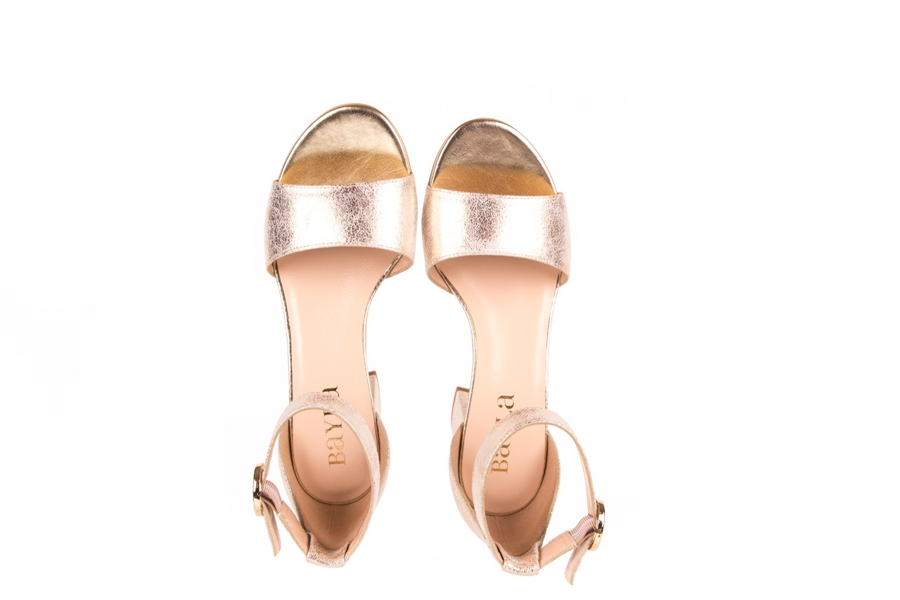 Sandały bayla-056 7049-1067 złote sandały, skóra naturalna  - bayla - nasze marki 10