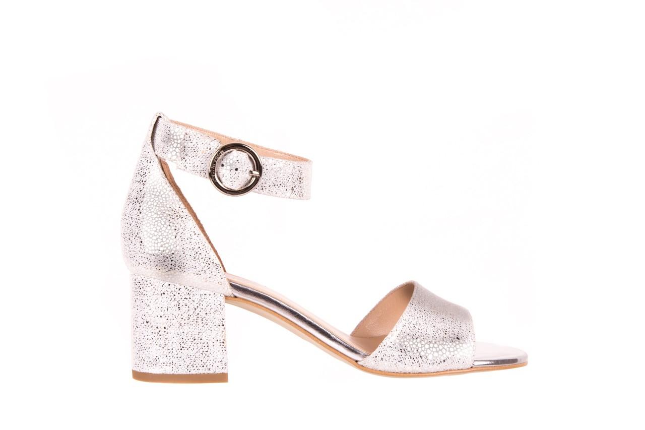 Sandały bayla-056 7049-1152 srebrno-białe sandały, skóra naturalna - bayla - nasze marki 6