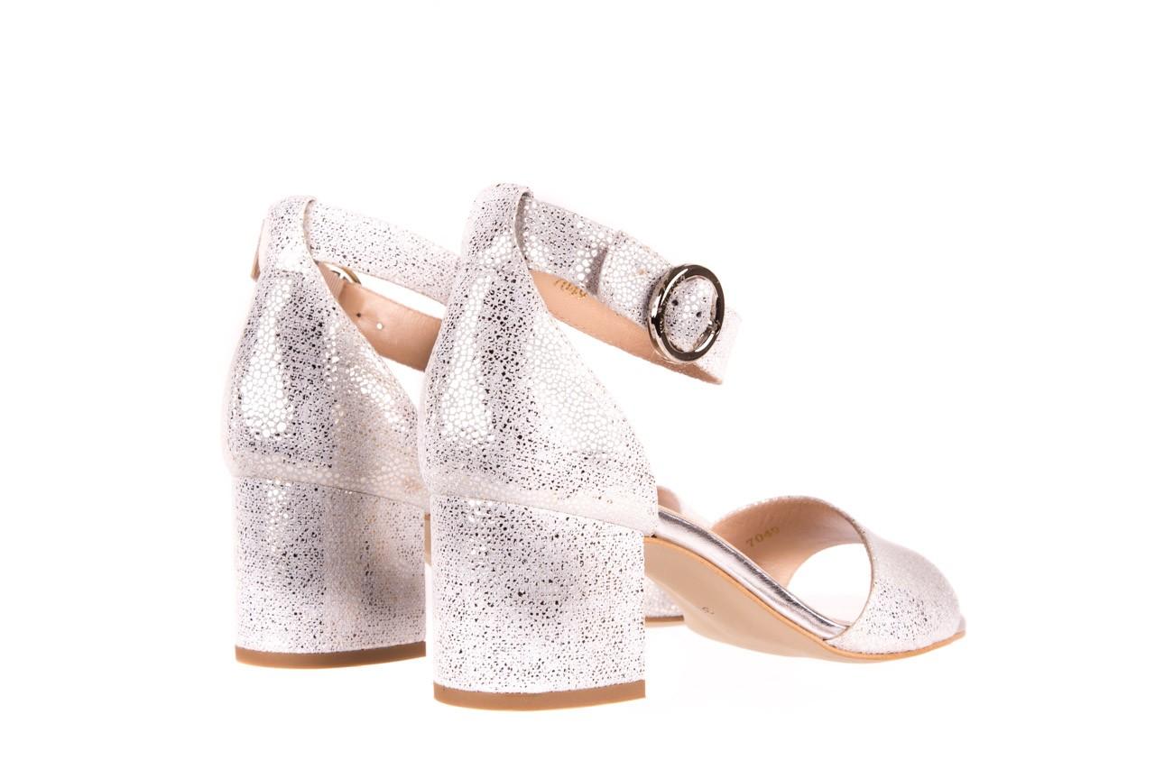 Sandały bayla-056 7049-1152 srebrno-białe sandały, skóra naturalna - bayla - nasze marki 9