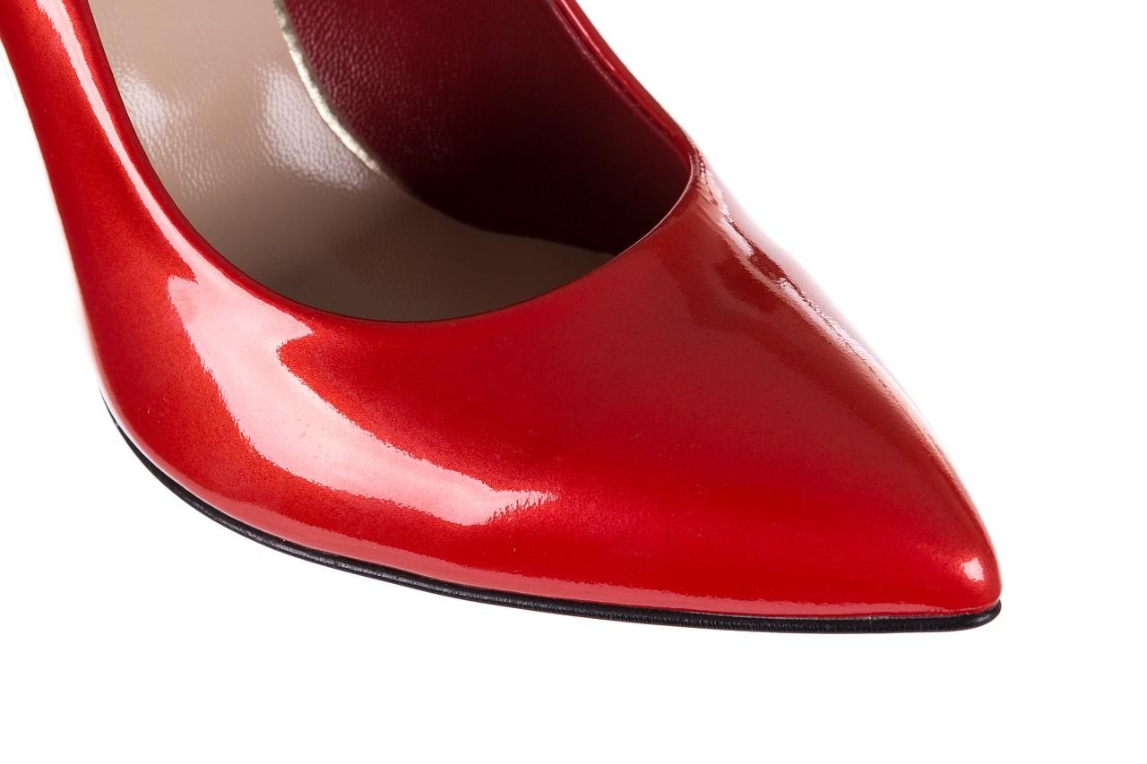 Szpilki bayla-056 7066-500 metaliczny czerwony, skóra naturalna  - bayla - nasze marki 15