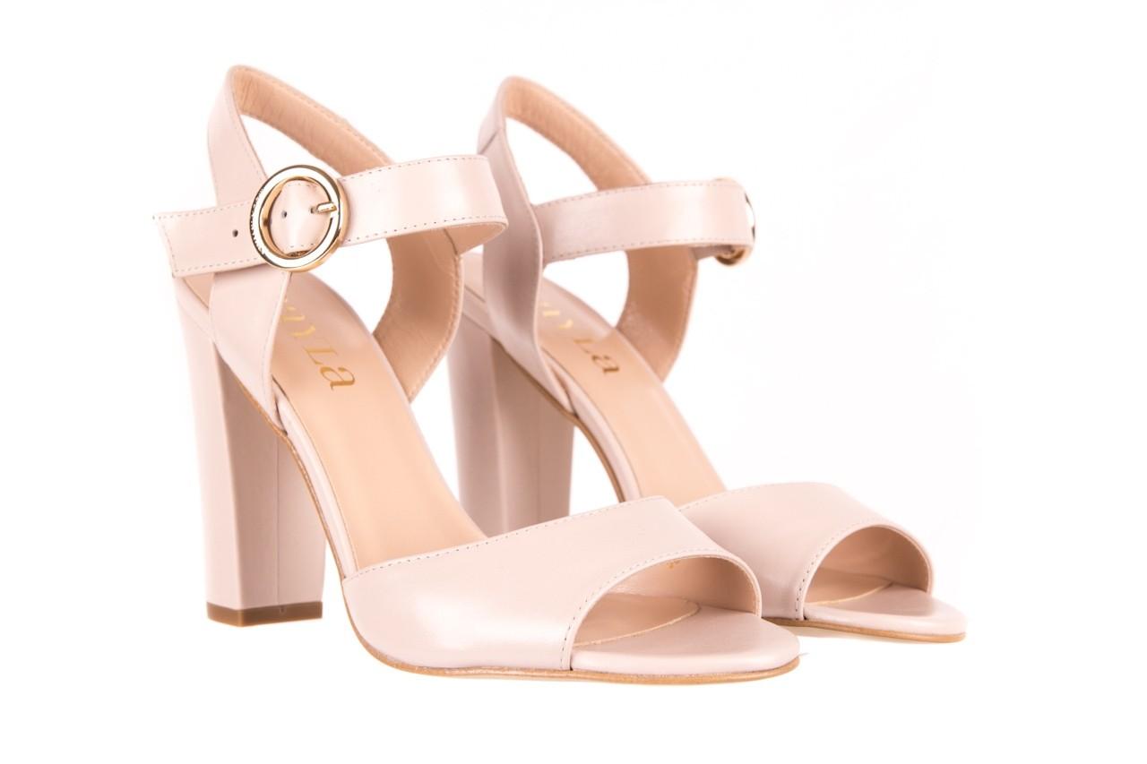 Sandały bayla-056 8023-203 beżowe sandały 19 - na obcasie - sandały - buty damskie - kobieta 7