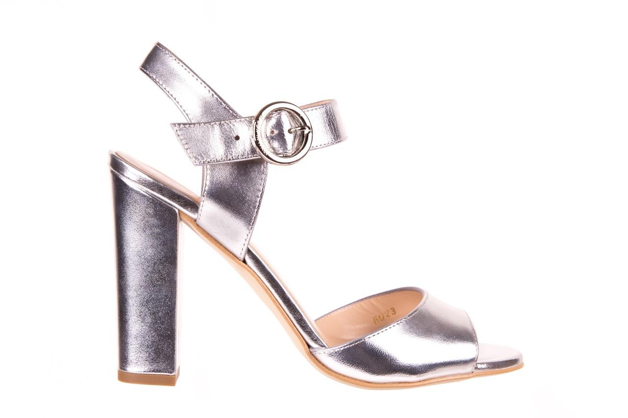 Sandały bayla-056 8023-625 srebrne sandały, skóra naturalna  - bayla - nasze marki 7