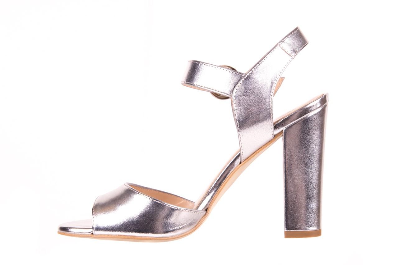Sandały bayla-056 8023-625 srebrne sandały, skóra naturalna  - bayla - nasze marki 9