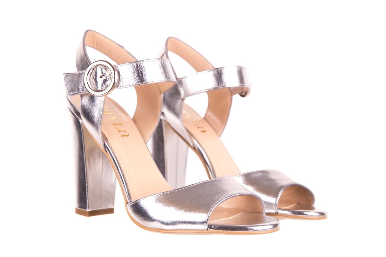 Sandały bayla-056 8023-625 srebrne sandały, skóra naturalna  - bayla - nasze marki 8