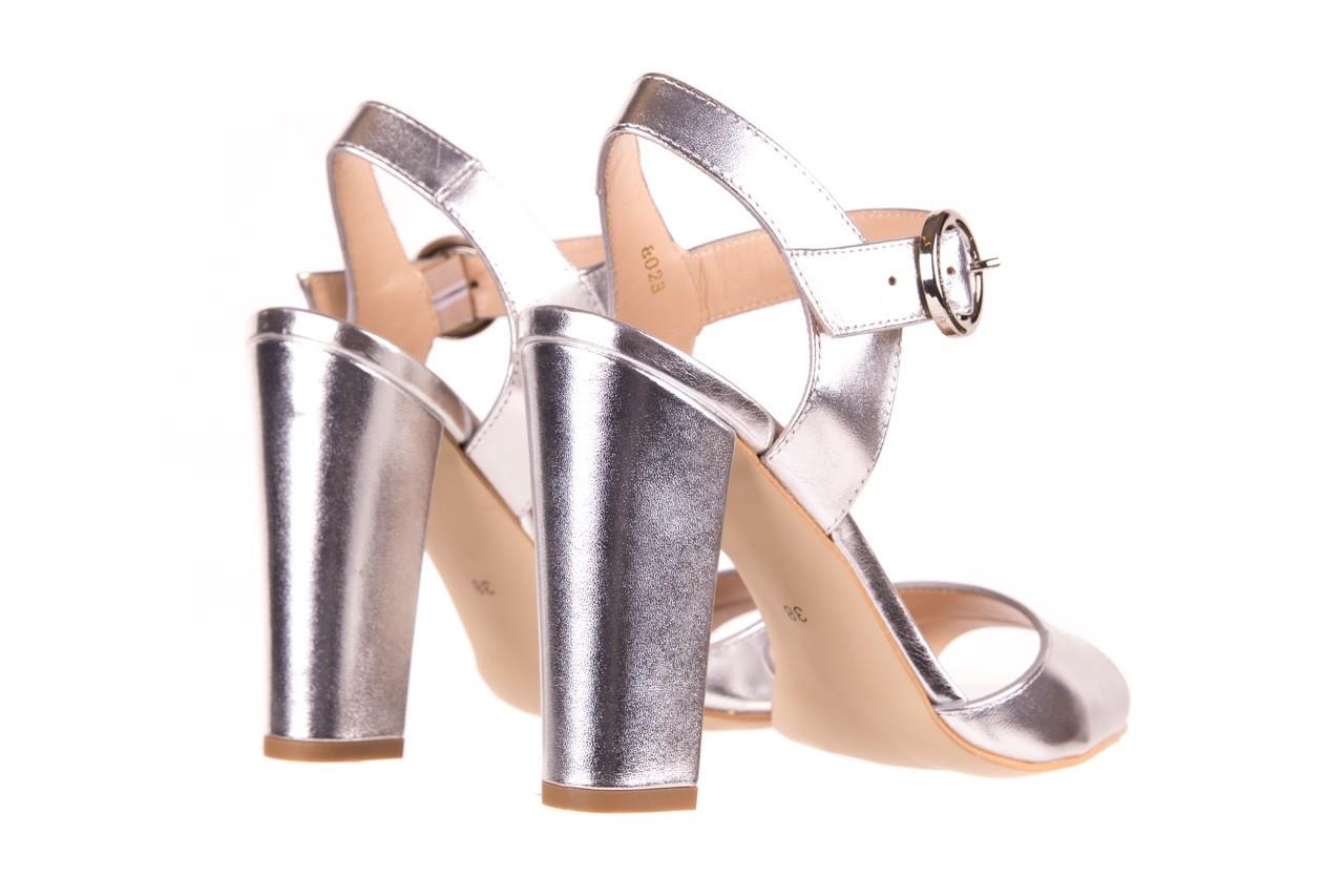 Sandały bayla-056 8023-625 srebrne sandały, skóra naturalna  - bayla - nasze marki 10