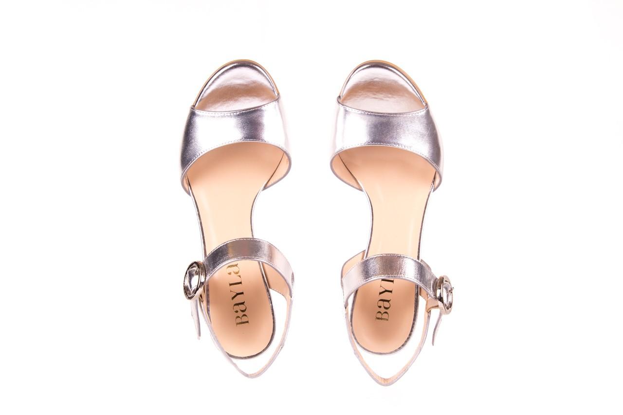 Sandały bayla-056 8023-625 srebrne sandały, skóra naturalna  - bayla - nasze marki 11