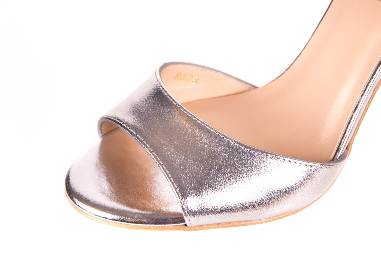 Sandały bayla-056 8023-625 srebrne sandały, skóra naturalna  - bayla - nasze marki 13