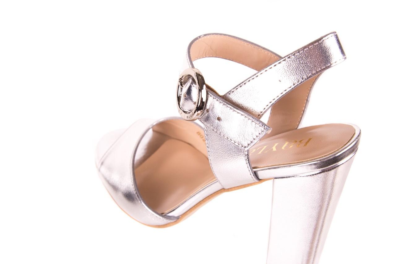 Sandały bayla-056 8023-625 srebrne sandały, skóra naturalna  - bayla - nasze marki 12