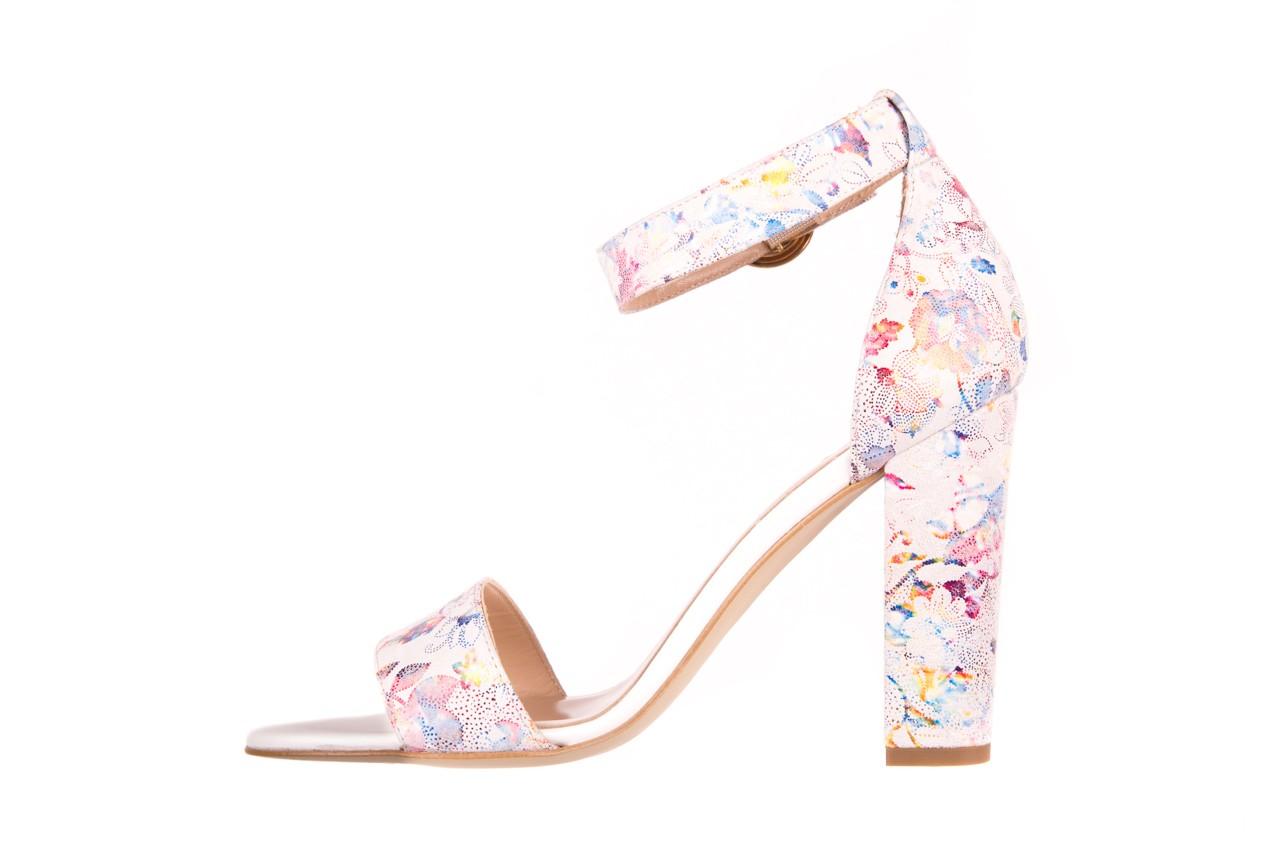 Sandały bayla-056 8024-1292 białe sandały w kwiaty, skóra naturalna  - bayla - nasze marki 7
