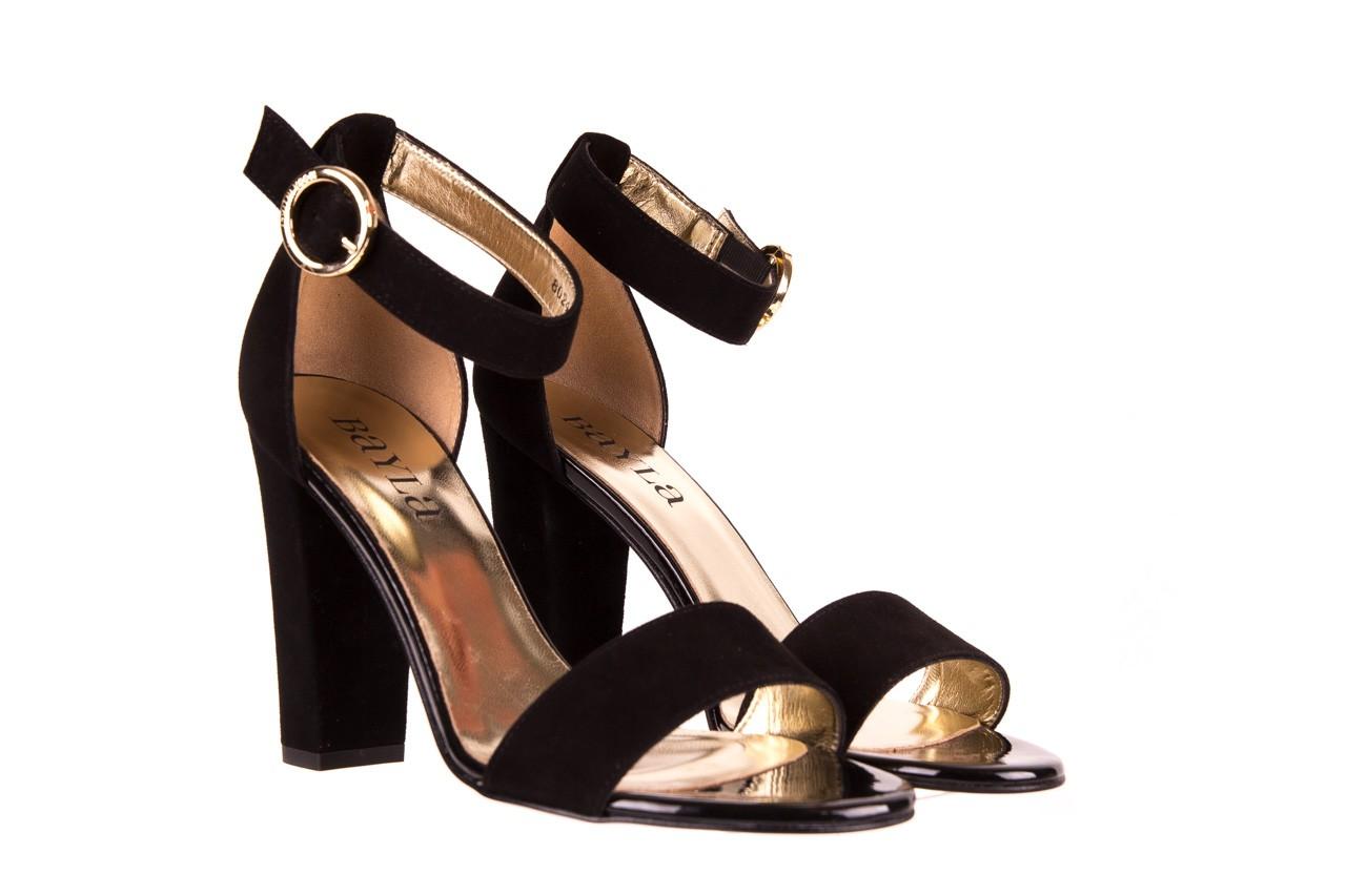 Sandały bayla-056 8024-21 czarne sandały, skóra naturalna  - bayla - nasze marki 7