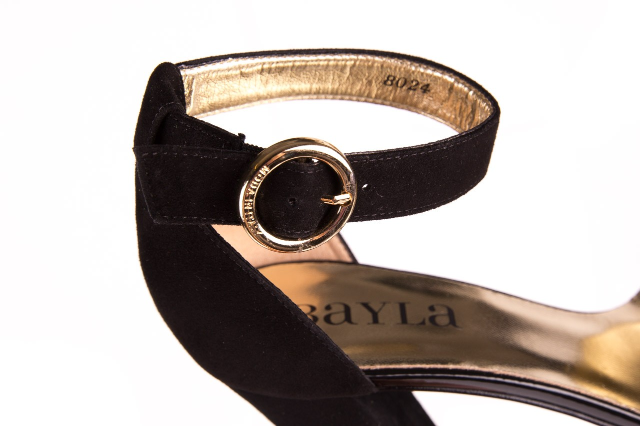 Sandały bayla-056 8024-21 czarne sandały, skóra naturalna  - bayla - nasze marki 11