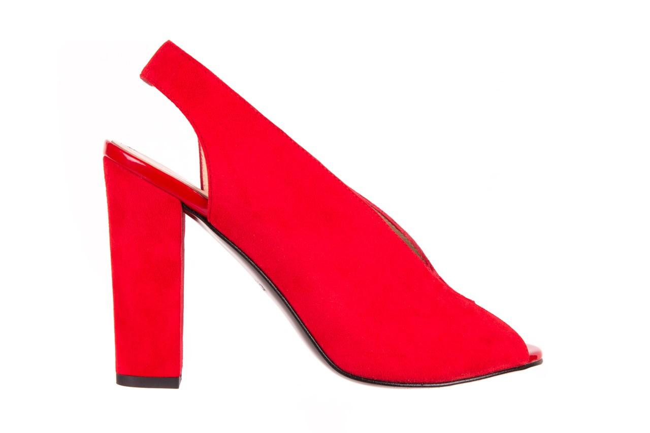 Sandały bayla-056 8043-28 czerwone sandały, skóra naturalna  - bayla - nasze marki 5