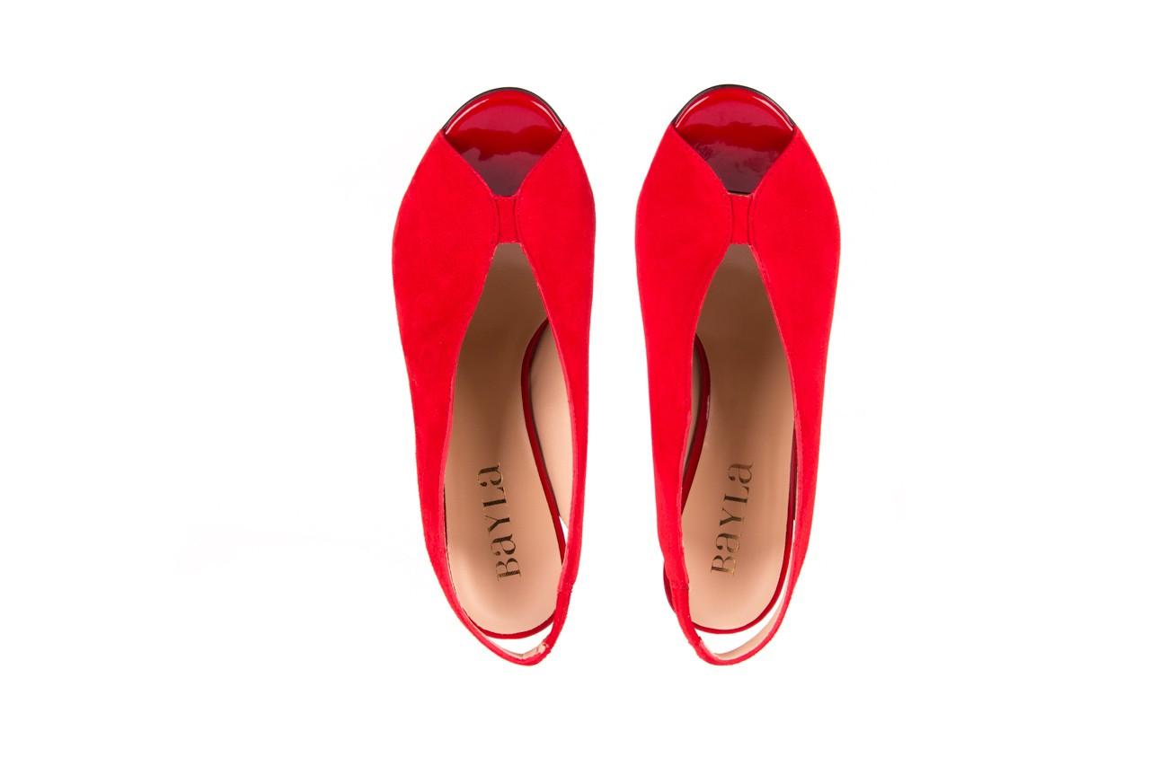 Sandały bayla-056 8043-28 czerwone sandały, skóra naturalna  - bayla - nasze marki 9