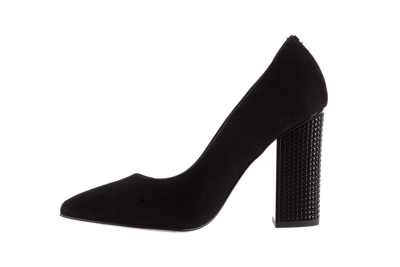 Czółenka bayla-056 8051-21 czarne czółenka z bieżnikowym obcasem, skóra naturalna  - na słupku - czółenka - buty damskie - kobieta 10