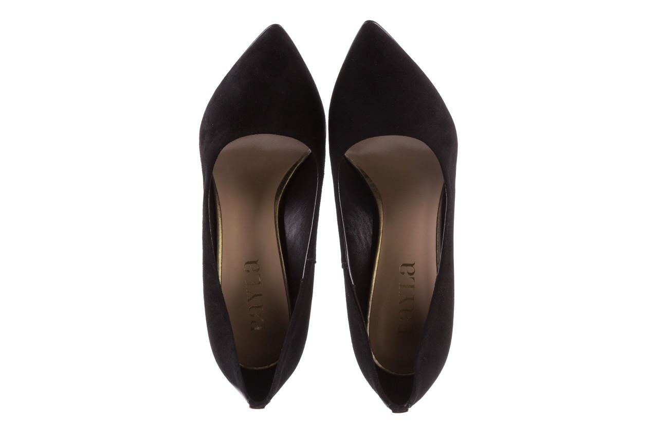 Czółenka bayla-056 8051-21 czarne czółenka z bieżnikowym obcasem, skóra naturalna  - na słupku - czółenka - buty damskie - kobieta 13