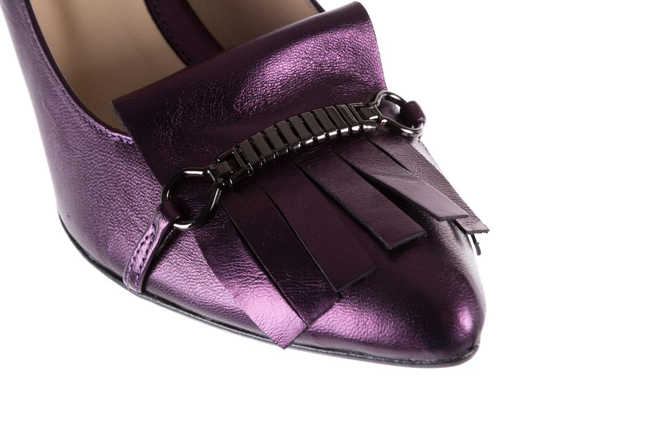 Czółenka bayla-097 7212 fiolet 173008, skóra naturalna  - na słupku - czółenka - buty damskie - kobieta 13