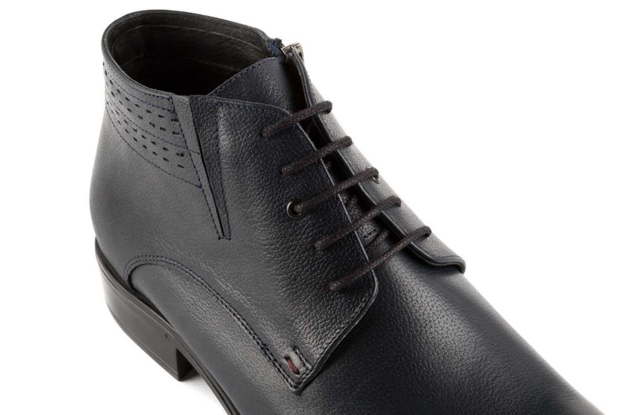 Trzewiki bayla-057 3197 granat, skóra naturalna - wizytowe - trzewiki - buty męskie - mężczyzna 11
