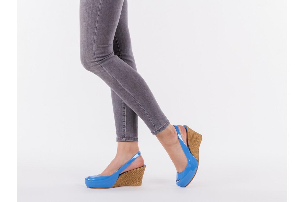 Sandały bayla-064 coco light blue, niebieski, guma 13