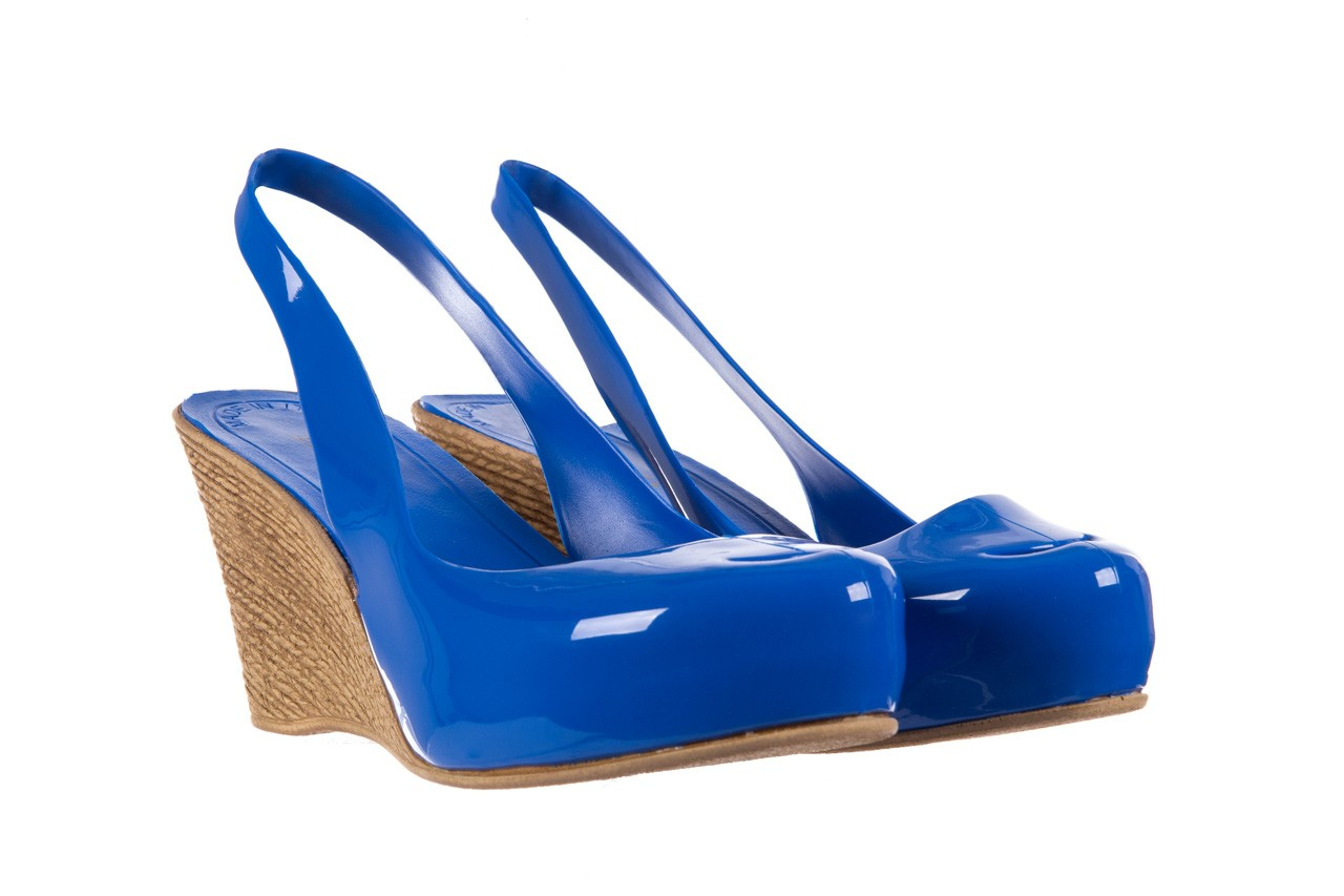 Sandały bayla-064 coco blue. granat, guma 8
