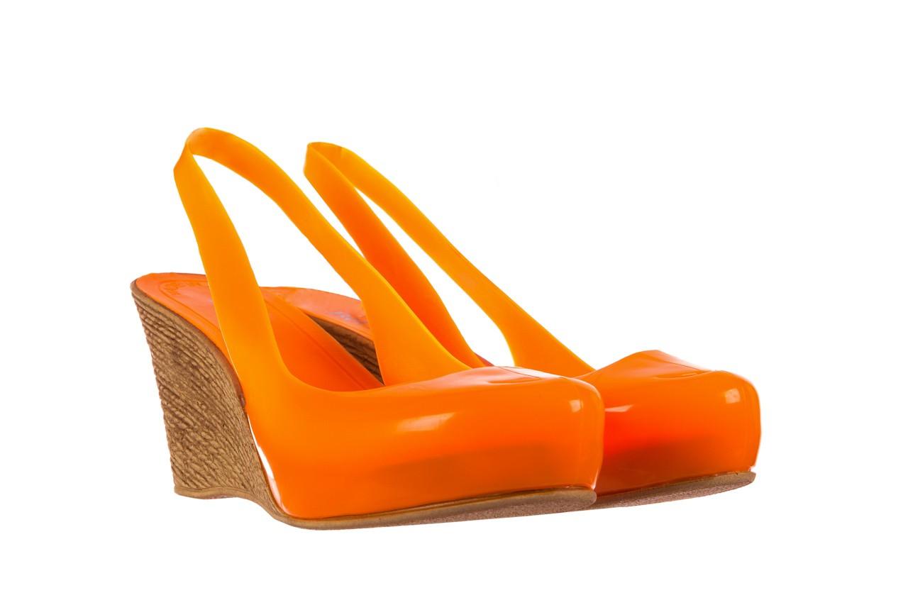 Sandały bayla-064 coco orange fluo, pomarańczowy, guma - bayla - nasze marki 8