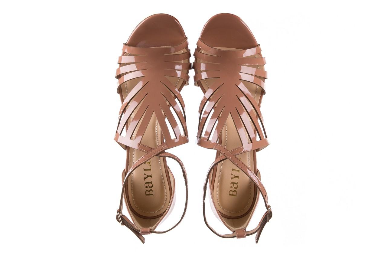 Sandały bayla-065 1388115 col rosa, róż, skóra ekologiczna lakierowana  - sandały - letnie hity cenowe 13